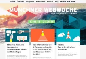 Münchner Webwoche Website